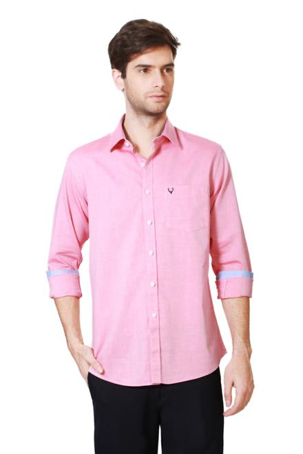 2a048ff4 Allen Solly Shirts, Allen Solly Pink Shirt for Men at Planetfashion.in