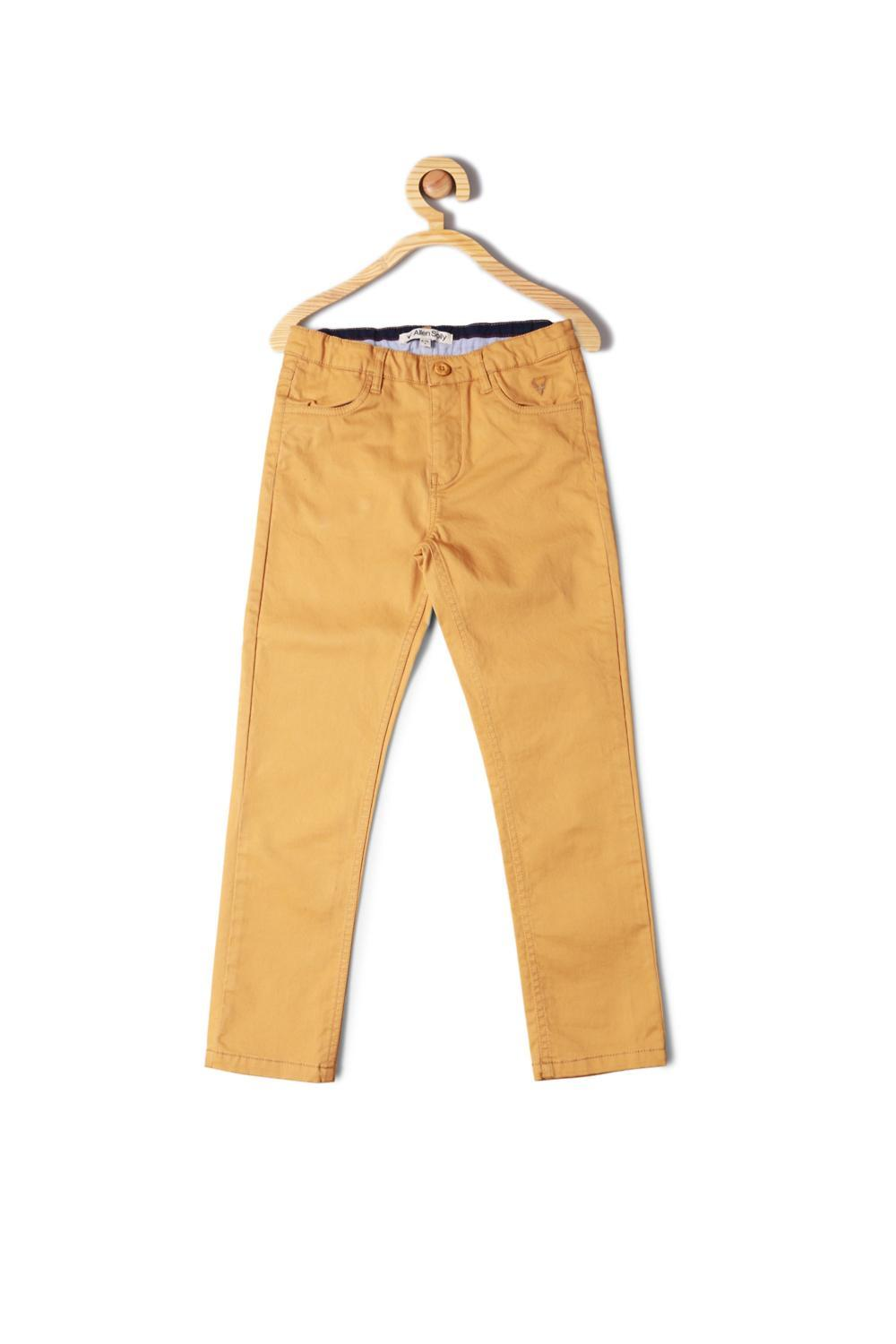 c9587234f Allen Solly Junior Bottoms, Allen Solly Yellow Trousers for Boys at ...
