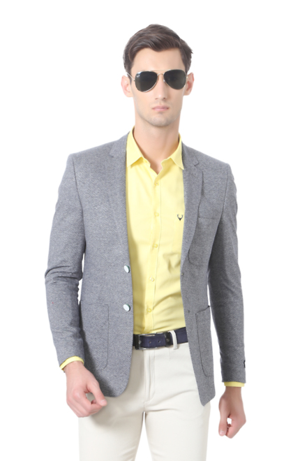 efded678e Solly Sport Suits & Blazers, Allen Solly Grey Wimbledon Blazer for Men at  Allensolly.com