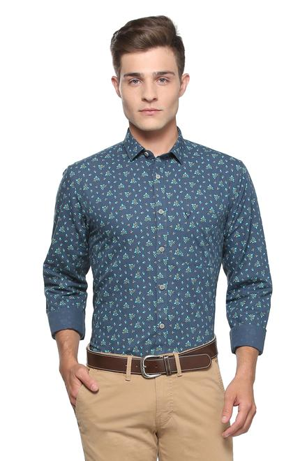 9029344c Allen Solly Shirts, Allen Solly Navy Shirt for Men at Planetfashion.in