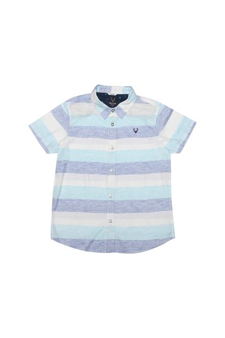 8eb25d4d057b Allen Solly Junior Shirts & Tees, Allen Solly Blue Shirt for Boys at  Planetfashion.in