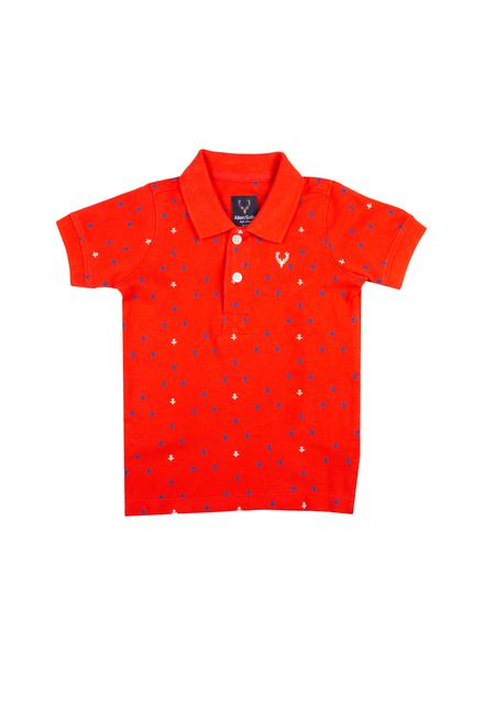 959748511 Allen Solly Junior Shirts & Tees, Allen Solly Red T Shirt for Boys at ...