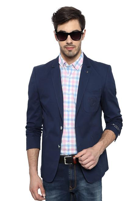 512aa0dc2 Solly Sport Suits & Blazers, Allen Solly Blue Wimbledon Blazer for Men at  Allensolly.com
