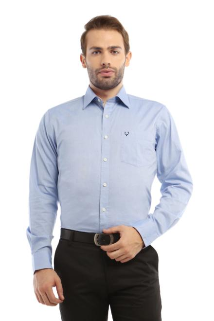 87b9ed82 Allen Solly Shirts, Allen Solly Blue Shirt for Men at Planetfashion.in